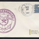 1967 US Navy Ship Cover - USS MACDONOUGH (DLG-8) - Cacheted