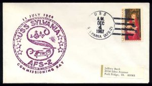 1967 US Navy Ship Cover - USS SYLVANIA (AFS-2) - Cacheted