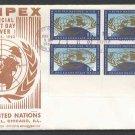 COMPEX - 1962 U.N. 11c Regular (#107) Inscription Block FDC - UA