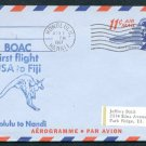 1967 BOAC International First Flight Cover - HONOLULU, HAWAII / NANDI, FIJI