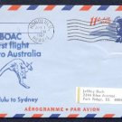 1967 BOAC International First Flight Cover - HONOLULU, HAWAII / SYDNEY, AUSTRALIA
