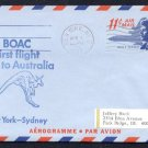 1967 BOAC International First Flight Covers (2) - NEW YORK / SYDNEY, AUSTRALIA