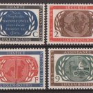 LUXEMBOURG -1955 United Nations 10th Anniversary (#306-9) - MNH Singles