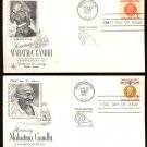 ART CRAFT - 1961 Mahatma Gandhi (#1174-5) Set of 2 FDCs - UA