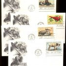 ART CRAFT - 1972 Wildlife Conservation (#1464-7) Set of 4 FDCs - UA