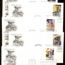 ART CRAFT - 1973 Postal People (#1489-98) Set of 10 FDCs - UA