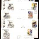 ART CRAFT - 1973 Postal People (#1489-98) Set of 10 FDCs - UA