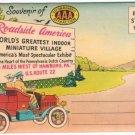 1950s ROADSIDE AMERICA - Hamburg, Pennsylvania - Illustrated Souvenir Folder/Mailer