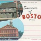 1950s BOSTON, MASSACHUSETTS - Full Color Souvenir Folder/Mailer