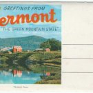 "1950s ""Greetings From VERMONT"" - Full Color Souvenir Folder/Mailer"