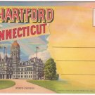 1943 HARTFORD, CONNECTICUT - Full Color Illustrated Souvenir Folder/Mailer