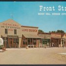 Front Street, BOOT HILL, Dodge City, Kansas - Unused Post Card