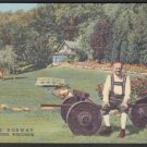 1948 LITTLE NORWAY, Blue Mounds, Wisconsin - Unused LINEN Postcard (8B-H579)