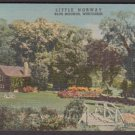 1948 LITTLE NORWAY, Blue Mounds, Wisconsin - Unused LINEN Postcard (8B-H577)