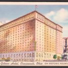 1940s SHERATON-GIBSON Hotel, Cincinnati, Ohio - Unused LINEN Postcard