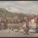 1950 PIKES PEAK - Colorado Springs, Colo. - Unused Curt Teich LINEN Postcard