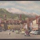 1950 PIKES PEAK - Colorado Springs, Colo. - Unused Curt Teich LINEN Postcard