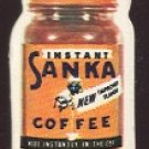 Tiny Die-Cut Ad Card for SANKA Instant Coffee