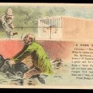 "Victorian Trade Card - Arbuckle Brothers Coffee Company - ""A PARK EPISODE"" (#34)"