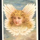 Victorian Trade Card - Arbuckle Brothers Coffee Company - Blonde-Haired Angel Face Above the Clouds
