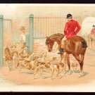 Victorian Trade Card - Arbuckle Brothers Coffee Company - FOX HUNT, gathering the hounds