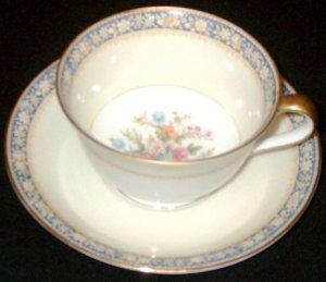 Vintage NORITAKE China - Cup and Saucer Set - SWANSEA Pattern (#685)