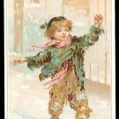 Victorian Trade Card - Arbuckle Brothers Coffee Company - Street Urchin Sliding on Ice