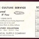 1949-50 Blotter / School Calendar - CAROLINA BIOLOGICAL SUPPLY COMPANY