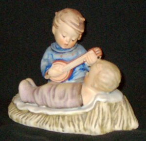 """Early 1960s HUMMEL Figurine / Candle Holder - LULLABY (#24/1 TMK3) - 3¾"""" Tall"""