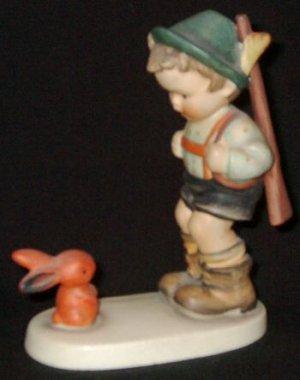 "Early 1960s HUMMEL Figurine - SENSITIVE HUNTER (#6/0 TMK3) - 4¾"" Tall"