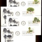 ART CRAFT - 1978 American Trees (#1764-7) Set of 4 FDCs - UA