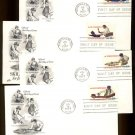 ART CRAFT - 1977 Skilled Hands for Independence (#1717-20) Set of 4 FDCs - UA