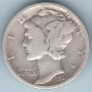 1937 Mercury Dime (U.S. Coin - 90% Silver) - Circulated