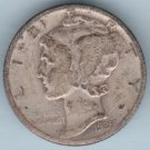 1939 Mercury Dime (U.S. Coin - 90% Silver) - Circulated