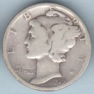 1939-D Mercury Dime (U.S. Coin - 90% Silver) - Circulated