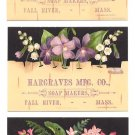 1878 PRANG Victorian Trade Cards (3) - HARGRAVES Soap - Fall River, Mass.