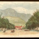 CLARK'S COTTON THREAD Victorian Trade Card - Scenic View - Pike's Peak from Colorado Springs