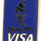 1996 Atlanta Summer Olympics Pin - by VISA