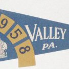 VALLEY FORGE, Pennsylvania - 1958 Souvenir Pennant
