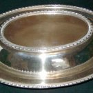 Vintage FRIEDMAN SILVER CO. Covered Oval Divided Vegetable Bowl - Pattern #1051