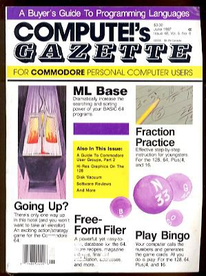 6/87 COMPUTE!&#039;S GAZETTE Magazine - COMMODORE 64/128/VIC-20