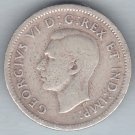 CANADA - 1940 King George VI Dime / Ten Cent Coin (80% Silver) - Circulated