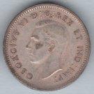 CANADA - 1942 King George VI Dime / Ten Cent Coin (80% Silver) - Circulated