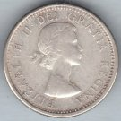 CANADA - 1961 Queen Elizabeth II Dime / Ten Cent Coin (80% Silver) - Circulated
