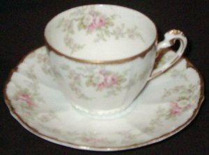 "Vintage Demitasse or Tea Cup & Saucer - ""ELITE L"", Limoges"