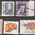 U.S. High-Value Stamps - 7 Different $1 Denomination (1955-2003) - Used