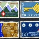 SWITZERLAND - 1968 Alpine Club, Europa, Chess Olympics, Geneva Airport (Sc. #487-90) - MNH Singles