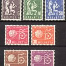 SWITZERLAND - 1956-60 International Labor Bureau Official Stamps (Sc. #3O94//102) - MNH Singles