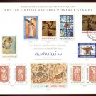 UNITED NATIONS POSTAL ADMINISTRATION Souvenir Card #2 - 1972 ART ON U.N. STAMPS - First Day (Geneva)