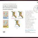 UNITED NATIONS POSTAL ADMINISTRATION Souvenir Card #9 - 1976 W.F.U.N.A. - First Day (Geneva)